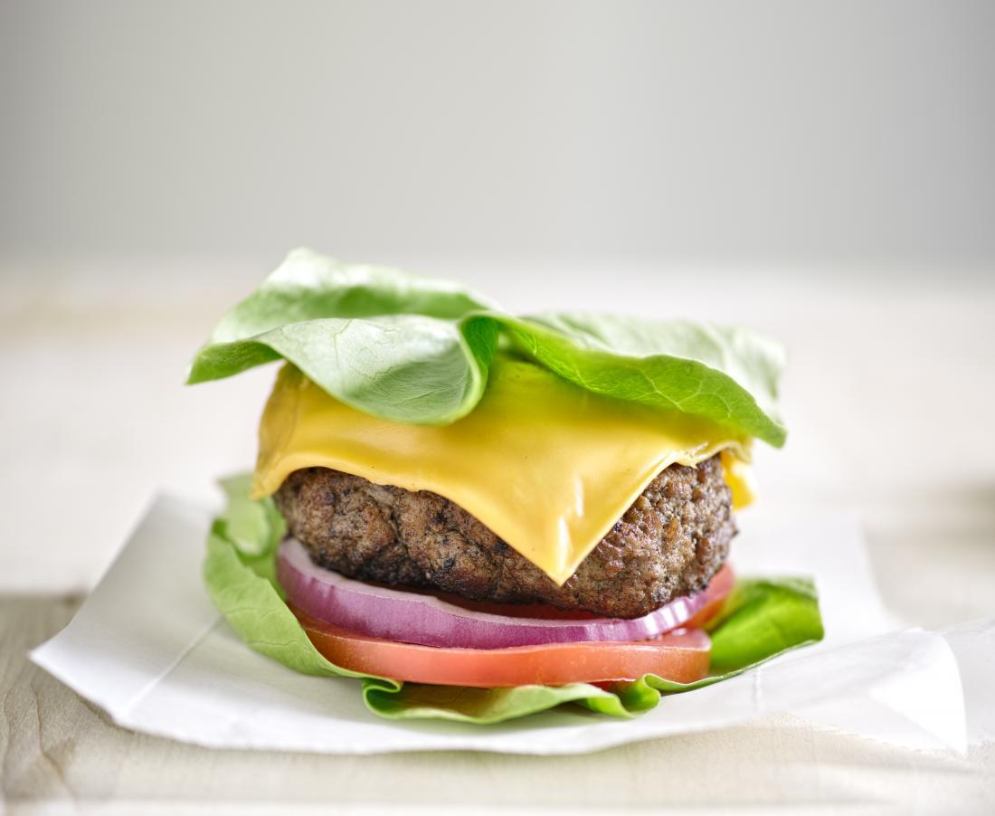 Low carb fast food burger