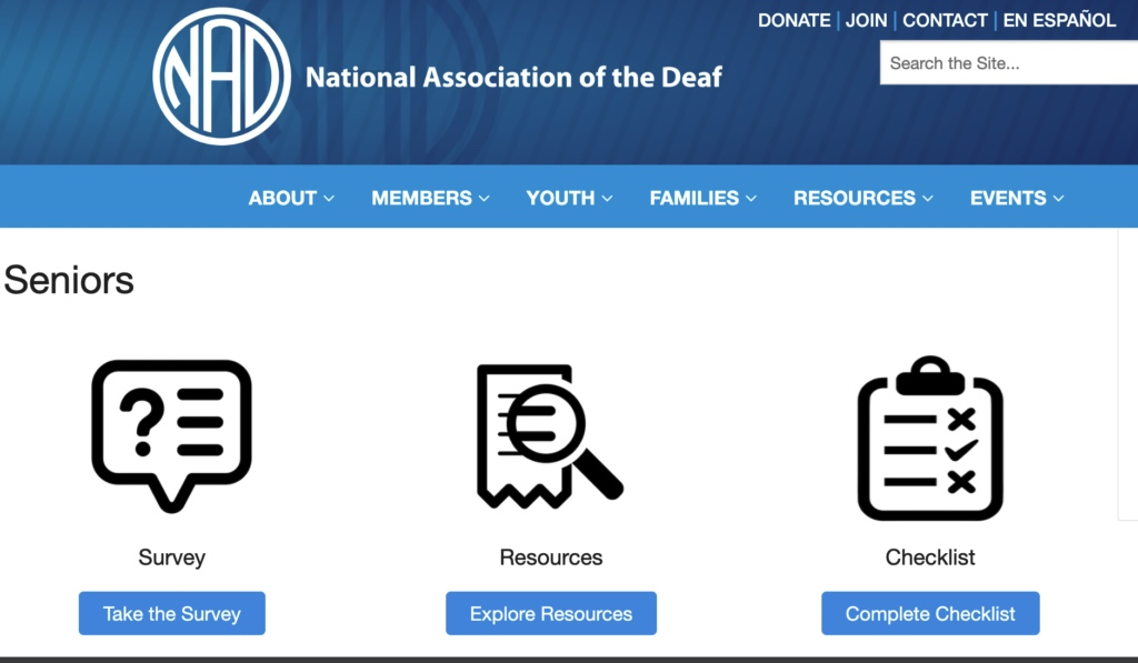 Take Survey at NAD website